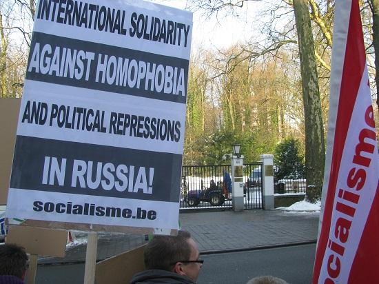 Actie tegen repressie in Rusland