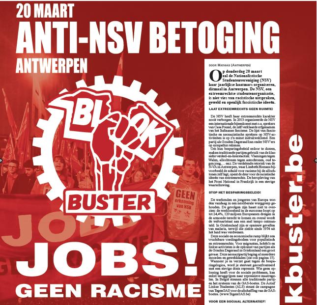 20 maart. Anti-NSV betoging in Antwerpen