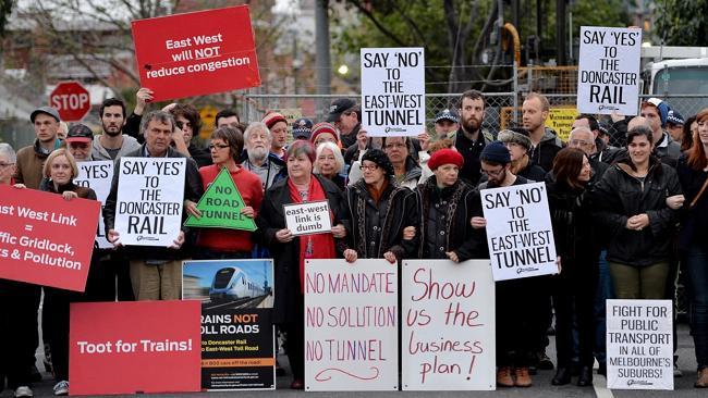 Australië. Directe acties tegen Oost-West tunnel in Melbourne