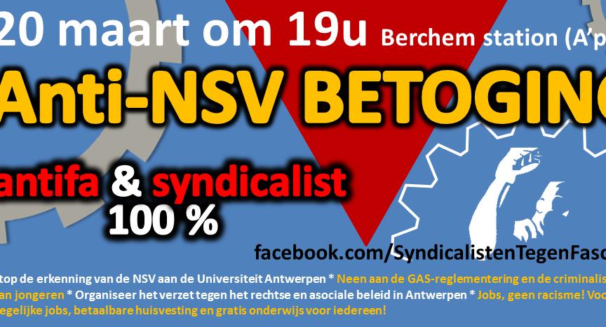 Oproep Syndicalisten tegen Fascisme