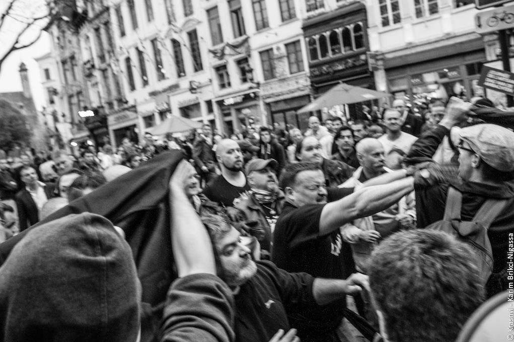 Nation valt antifascisten aan in Brussel