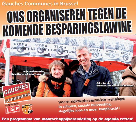 Gauches Communes in Brussel. Ons organiseren tegen de komende besparingslawine