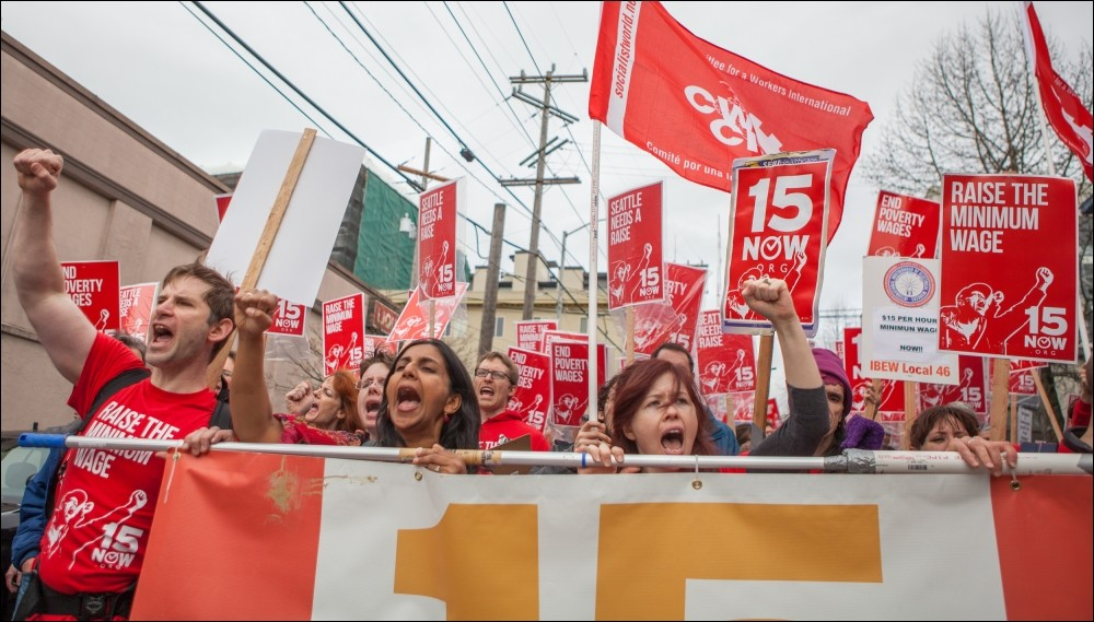 Overwinning! Verhoging van minimumloon afgedwongen in Seattle