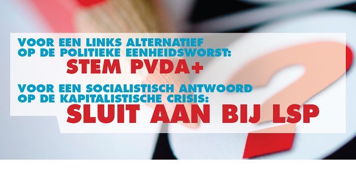 Verkiezingen. Stem radicaal links in het parlement!