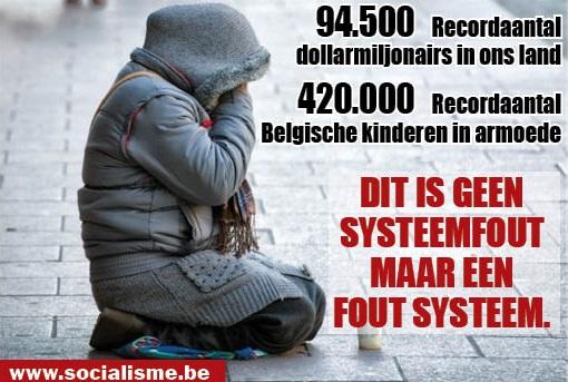 94.500 dollarmiljonairs, 420.000 kinderen groeien op in armoede. Dit is een fout systeem!
