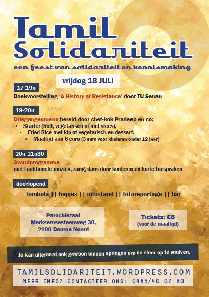 18 juli: feest van Tamil Solidariteit in Antwerpen