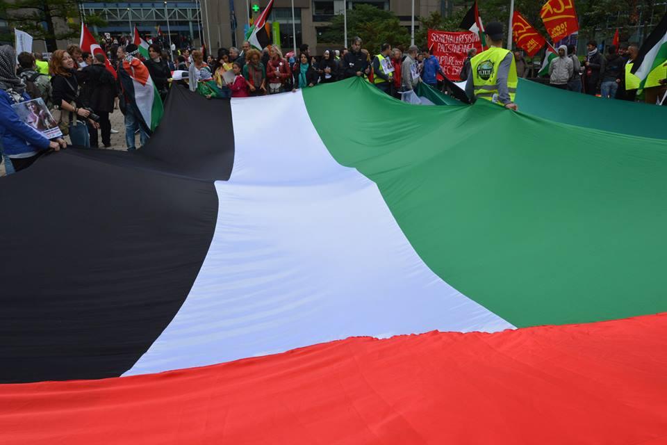 Betoging voor Gaza. Foto's door Jean-Marie