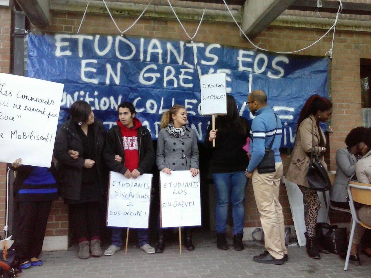 Studentenactie bij EOS in Brussel