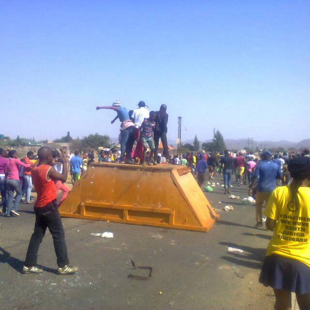 Zuid-Afrika. Harde repressie na lokaal protest tegen corruptie