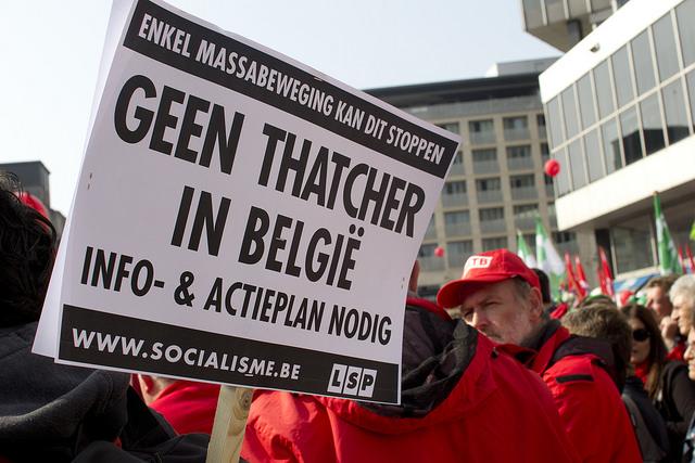 Rechtse Thatcheriaanse regering zoekt harde confrontatie op