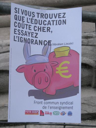 Werkonderbrekingen in Franstalig onderwijs