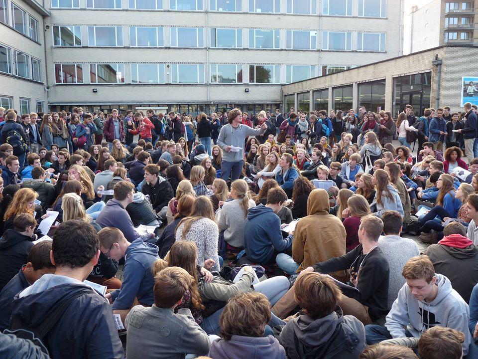 Foto's van de zitacties op de Voskeslaan en het KA Gentbrugge