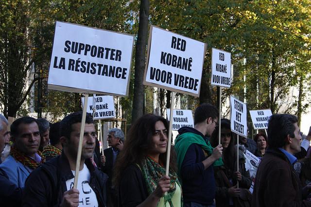 Solidariteit met Kobanê. Brusselse betoging tegen barbarij van IS