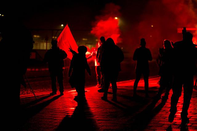 #24nov. Foto's van piketten in de Antwerpse binnenstad