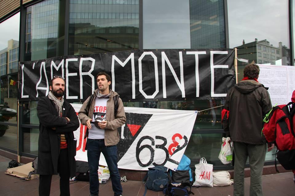 Foto's. Protest tegen uitsluiting werklozen