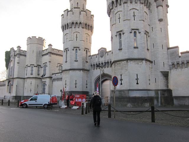 Verslag vanop het piket aan de gevangenis van St Gillis