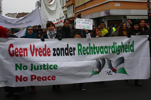 Enkele honderden op betoging Antwerp for Palestine