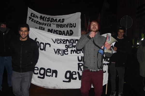 Betoging in Mol. Tegen haat en terreur: solidariteit