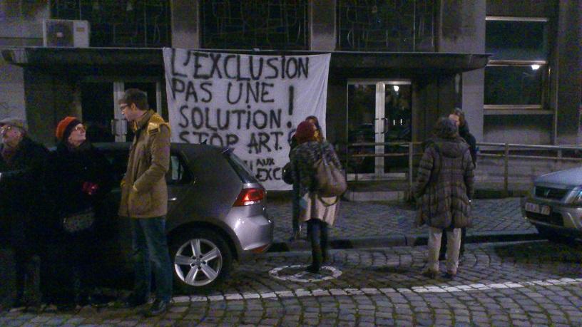 Luik. Actie tegen uitsluiting van 2300 werklozen