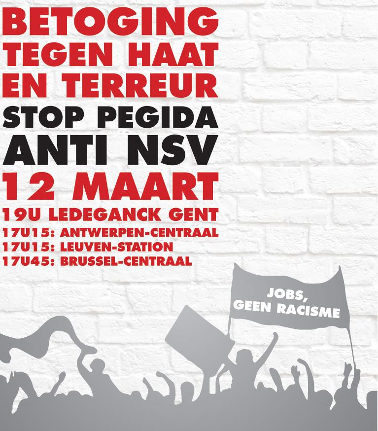 12 maart: eerste grote anti-Pegida betoging in ons land