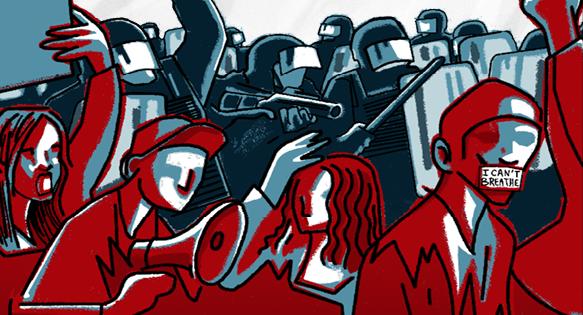 15 maart: betoging tegen repressie en politiegeweld