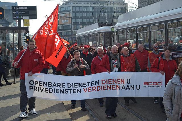 Fotoreportage van de ACOD-betoging