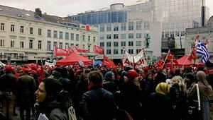 Betoging van Brusselse en Brabantse vakbonden tegen Michel I