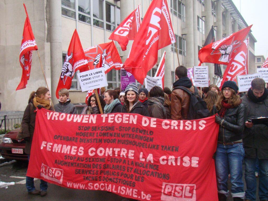 24 maart 2013. Betoging voor een vrije keuze uit protest tegen de anti-abortuslobby