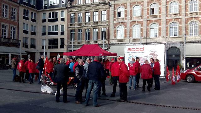 Staking 22/4. Verslag en foto's uit Leuven