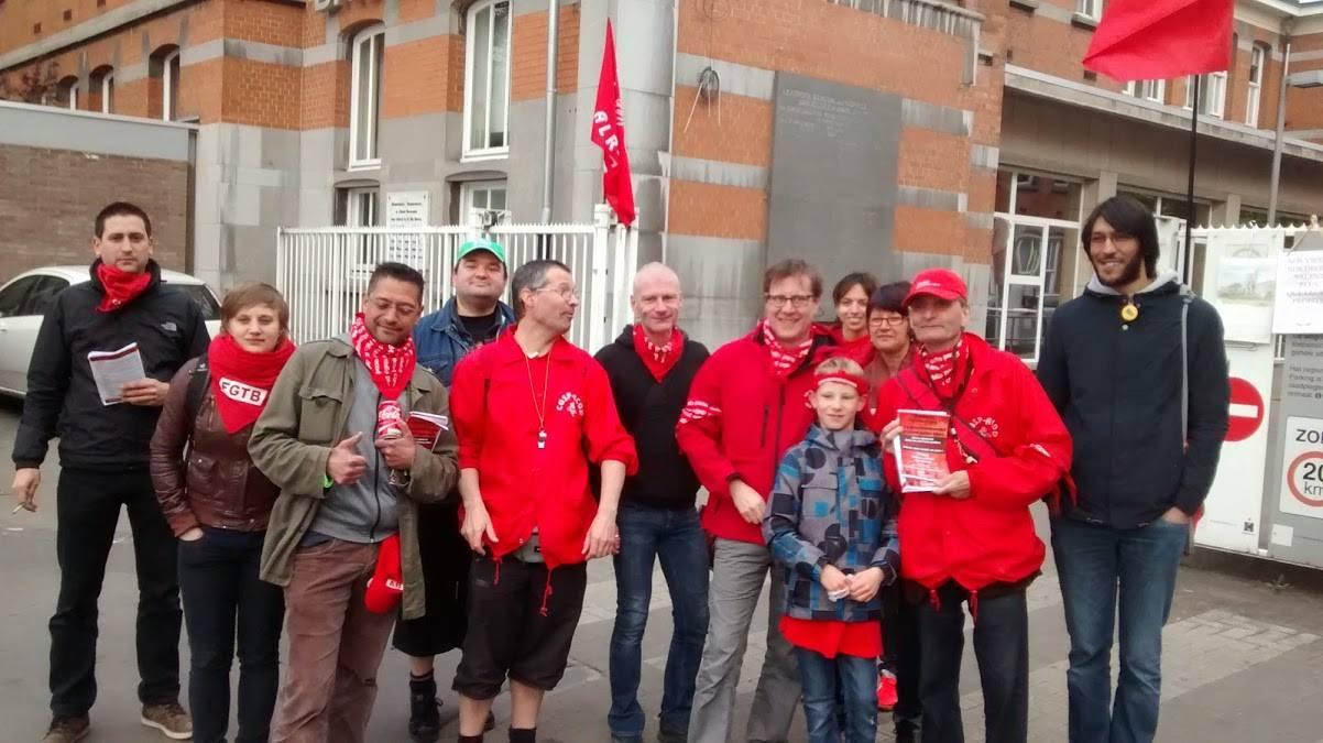 Staking 22/4. Verslagen en foto's  uit Brussel