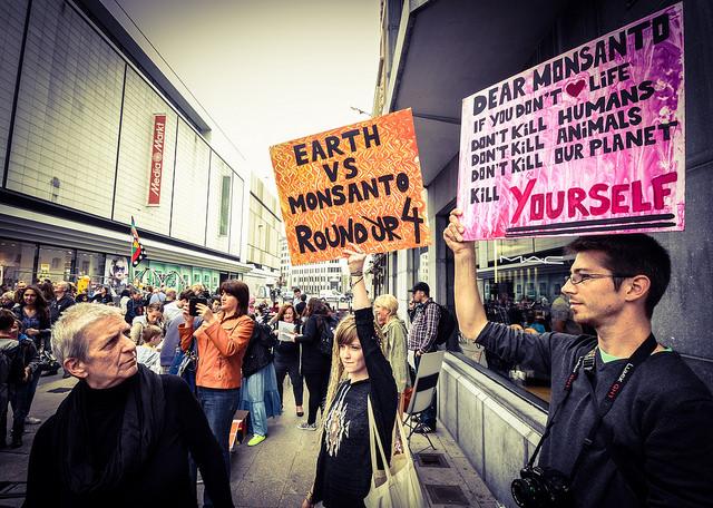 Brussel: protest tegen Monsanto in kader van internationale actiedag