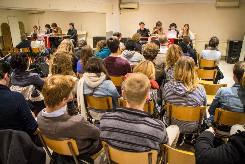 Meeting ALS Antwerpen in café Multatuli. Foto: Jente