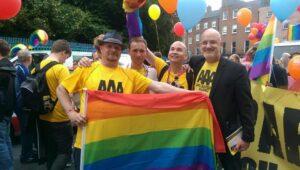 Op 27 juni was er een trotse Pride-optocht in Dublin