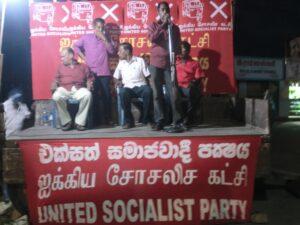 Verkiezingsmeeting in Jaffna (in het noorden).