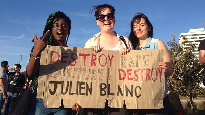 Protest tegen komst seksist Julien Blanc naar Antwerpen