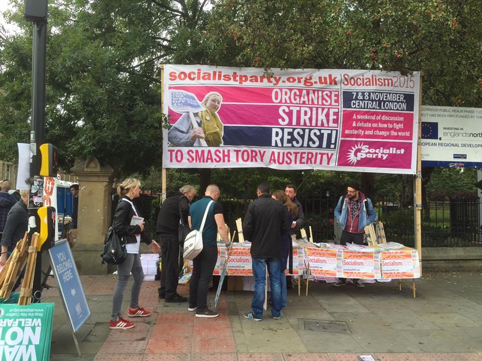 Vorig weekend ook al in Manchester: 100.000 betogers tegen asociale Britse beleid