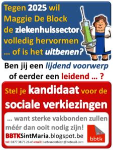 affiche sociale verkiezingen 2016