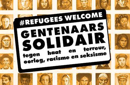 Gentenaars solidair tegen haat & terreur, tegen oorlog, racisme en seksisme