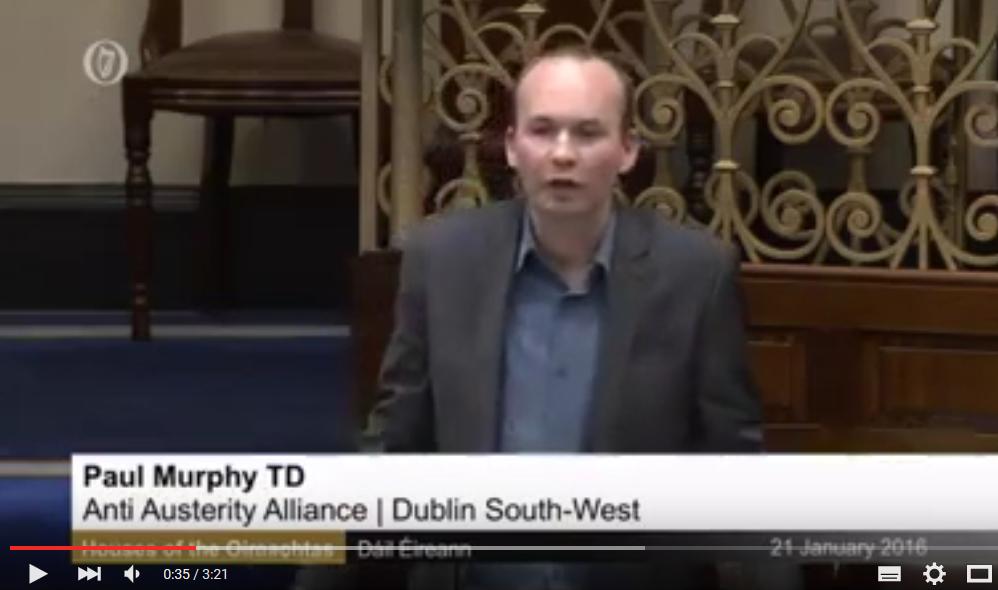 Paul Murphy: TTIP zorgt voor neerwaartse spiraal tot bodem van Atlantische Oceaan