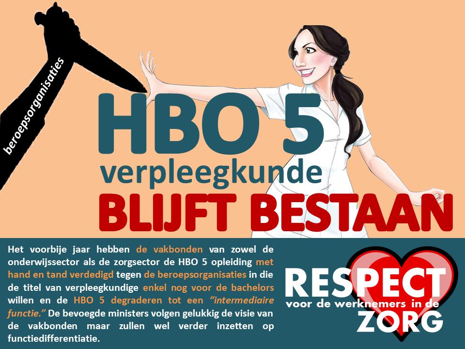 Opleiding HBO 5 Verpleegkunde BLIJFT bestaan ondanks de tunnelvisie van de beroepsorganisaties