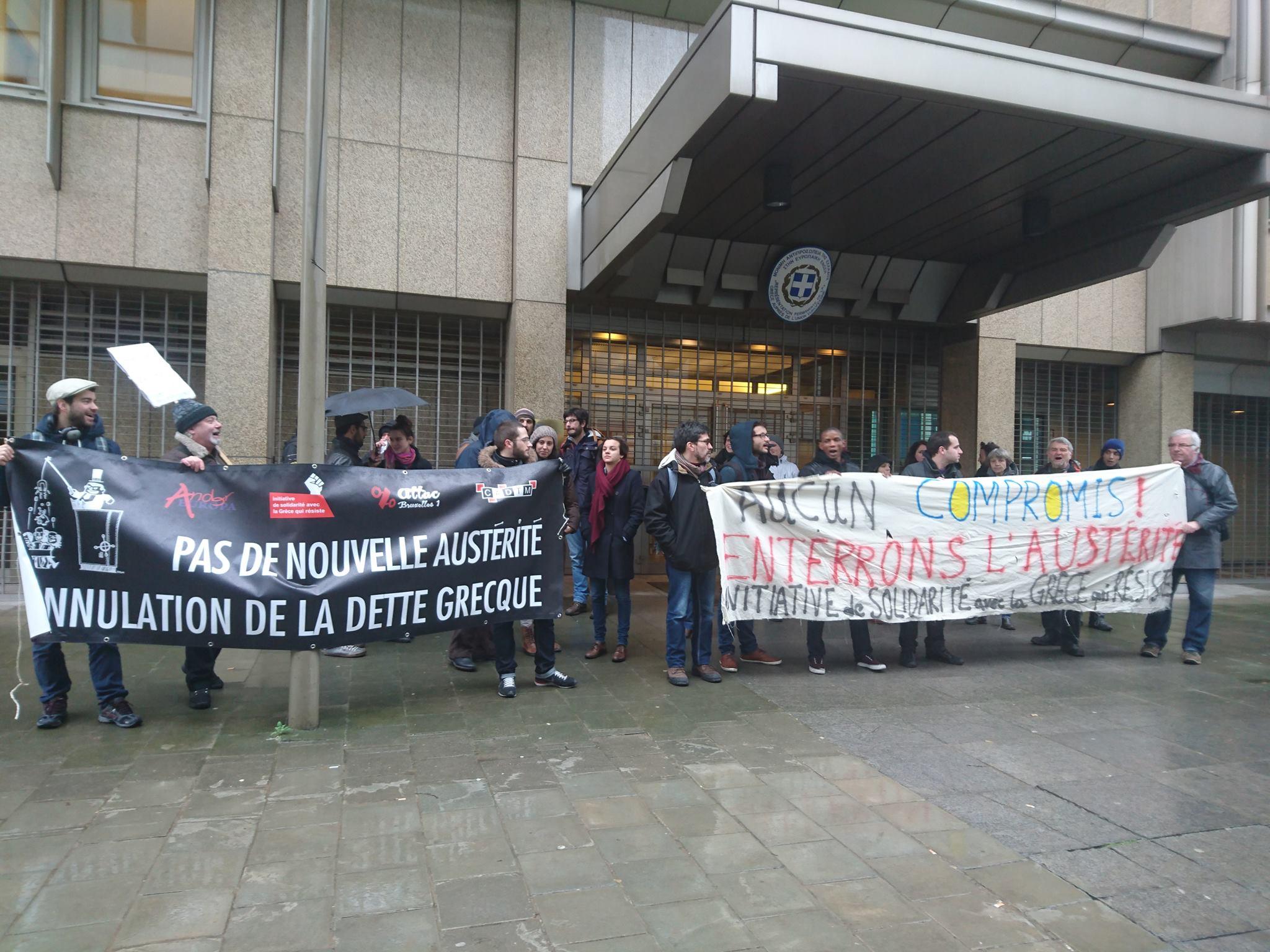 Brussel: solidariteit met Griekse algemene staking