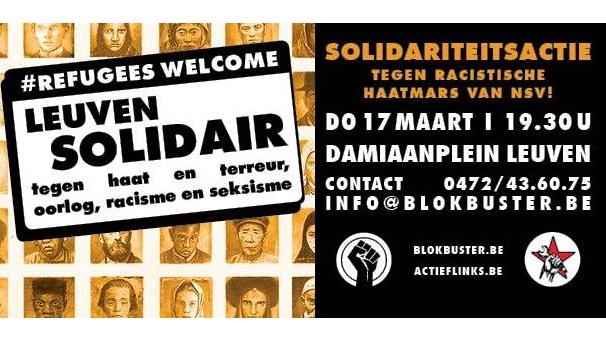 Na de succesvolle solidariteitsbetoging in Gent: Solidariteitsactie in Leuven!
