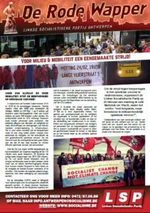 Pamflet 'Rode Wapper' van LSP Antwerpen