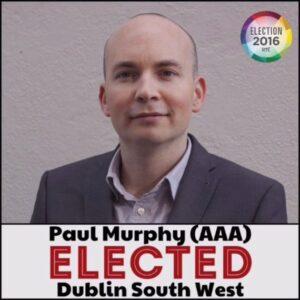 Paul Murphy is op 9 april in ons land. Hij spreekt dan op Socialisme 2016.