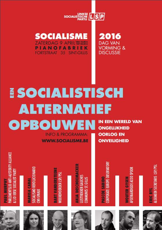 9 april: Socialisme 2016