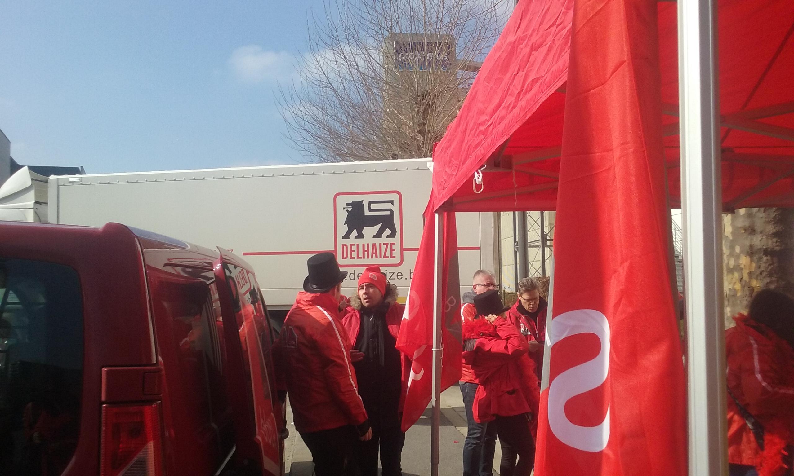 Protest aan aandeelhoudersvergadering Delhaize