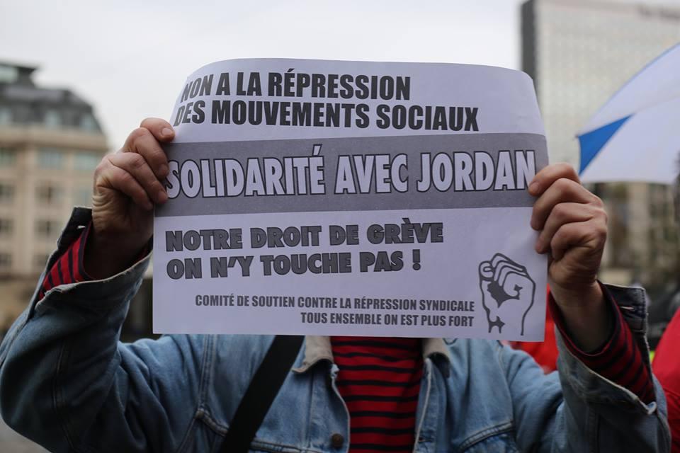 Solidariteit met Jordan, stoprepressie tegensociaal verzet!
