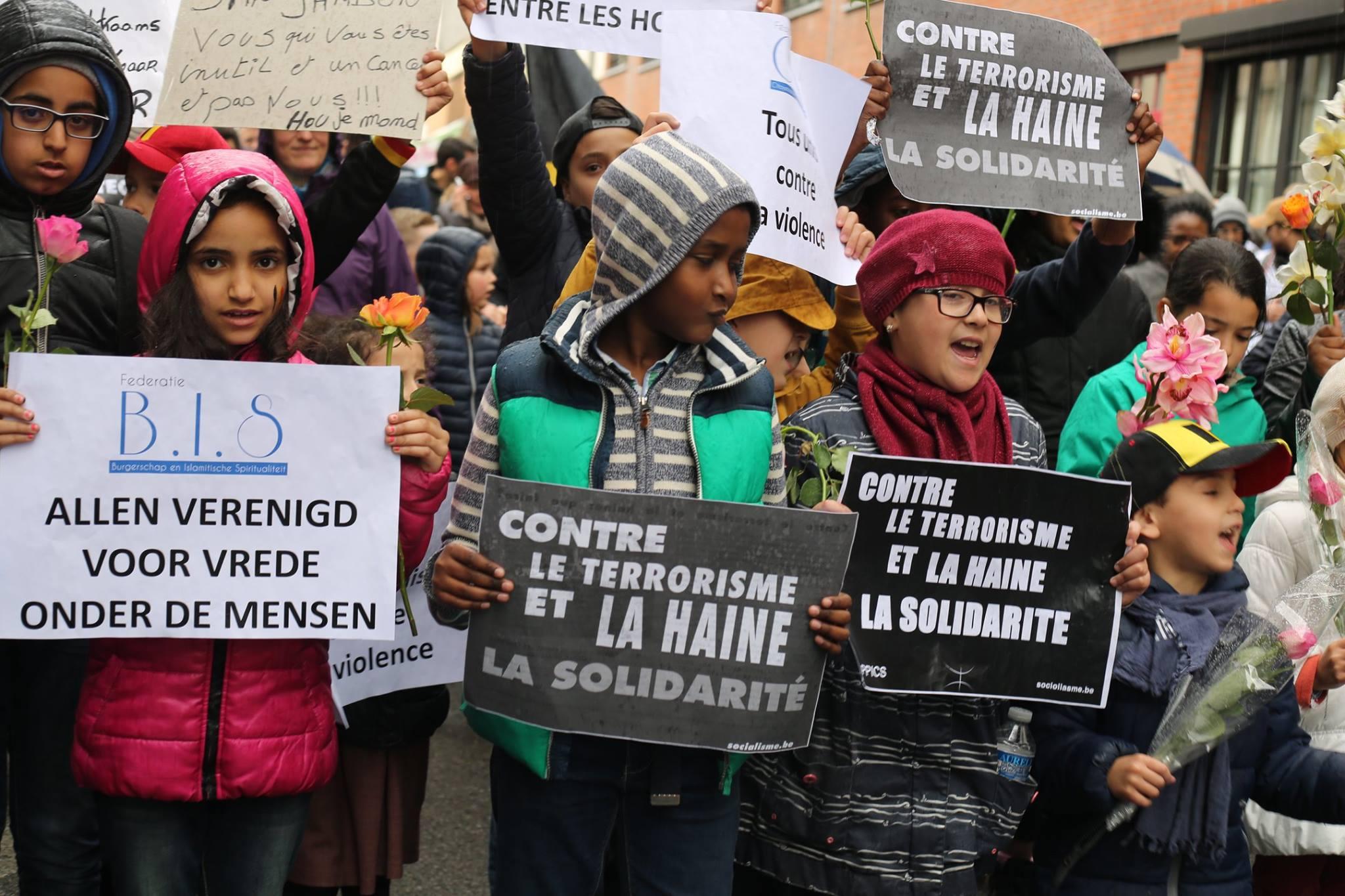 Grote mars tegen terreur en haat