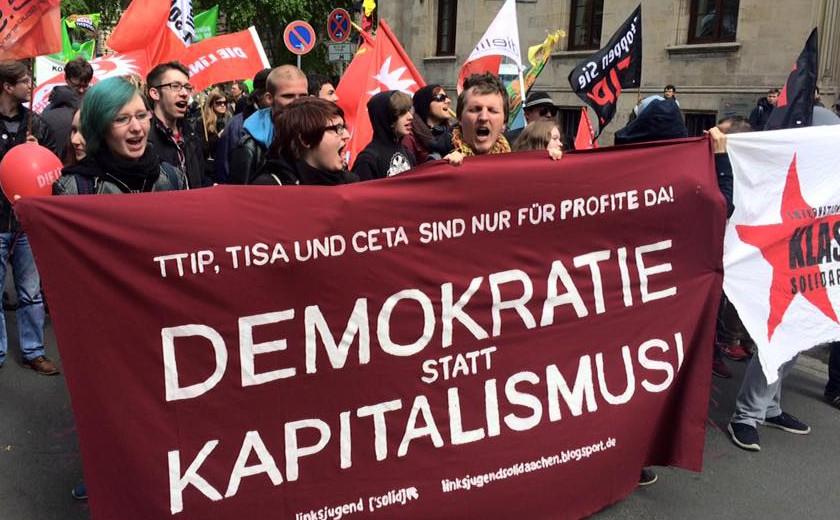 Massaal  protest tegen TTIP in Duitsland