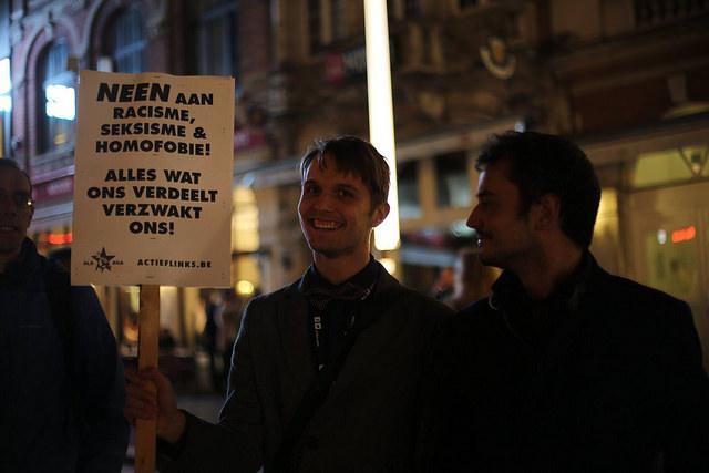 Betoging tegen racisme in Leuven in maart van dit jaar. Foto door PPICS
